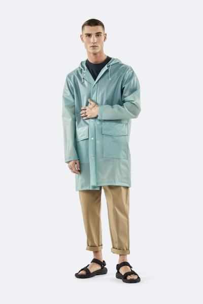 Hooded Coat, 雾灰绿色