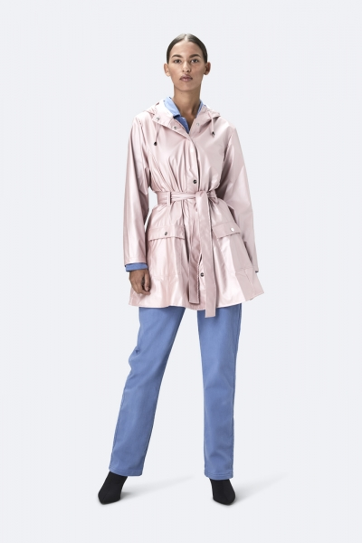 Curve Jacket, 金属粉红色