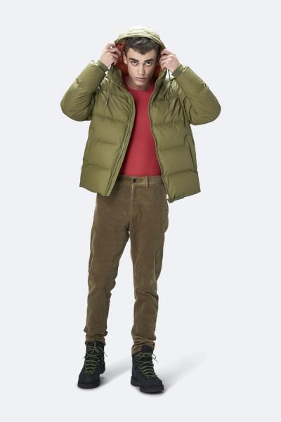 Puffer Jacket, 灰绿色