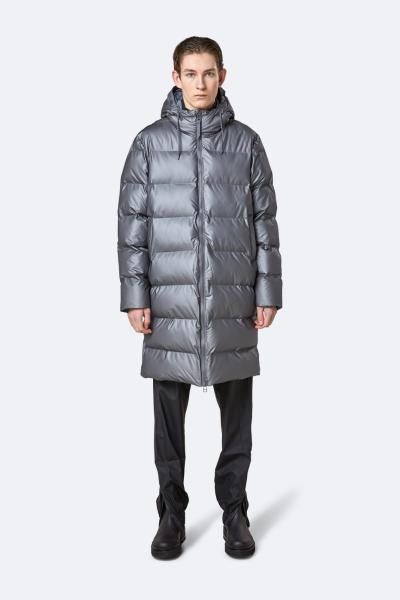 Long Puffer Jacket, 金属炭灰色